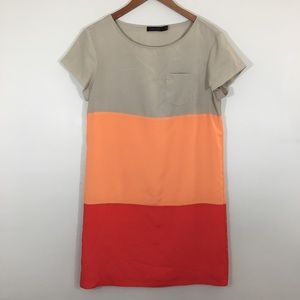The Limited shift dress medium color block spring